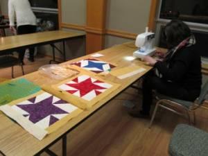 Community project blocks at Feb meeting