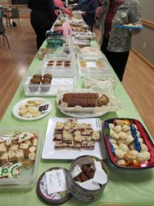 Goody table at the January meeting