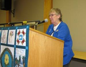 Rosemary G, a guild member spoke at the January meeting