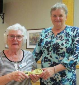 Val Ashbourne Community Projects Star Joannie with Sue Pirie