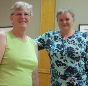 Pat Forrest QBA Queen Joannie with Sue Pirie