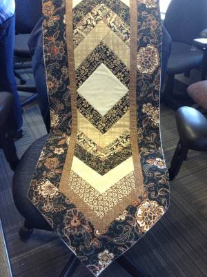 A sample of the QBA table runner Apr 2017
